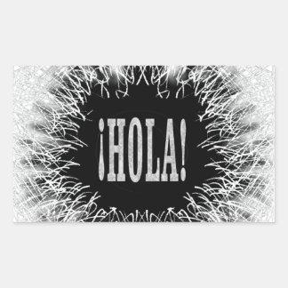 Furry Hola Rectangular Sticker
