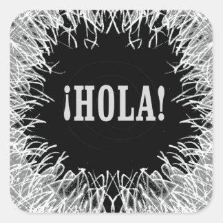 Furry Hola Square Sticker