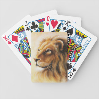 Furry Lion Bicycle Playing Cards