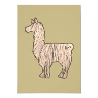 Furry Llama Invitation