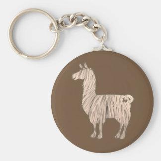 Furry Llama Keychain