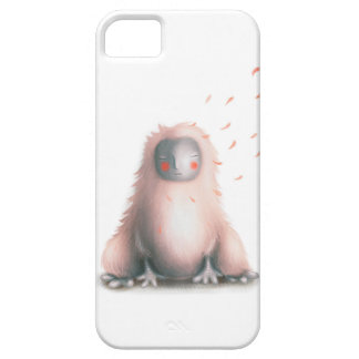 Furry monster with flying petals. iPhone 5 cover