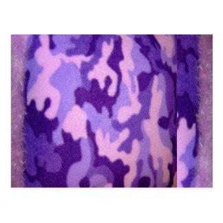 furry purple camo card postcard