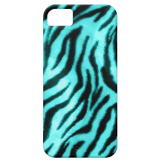 Furry Zebra Blue Barely There iPhone 5 Case