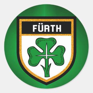 Fürth Flag Classic Round Sticker