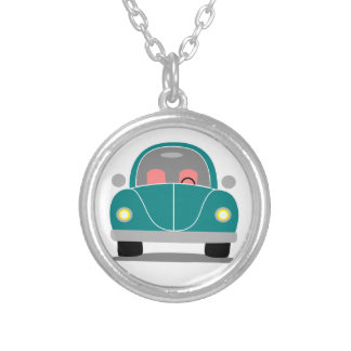 Fusca love silver plated necklace