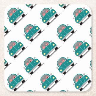 Fusca love square paper coaster