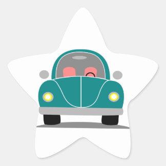 Fusca love star sticker