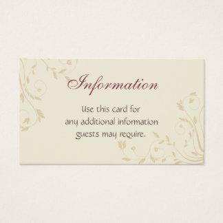 Fuschia Daffodils and Wheat Business Card