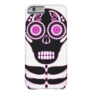 Fuschia Fiesta Skull White Barely There iPhone 6 Case