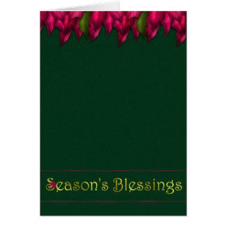 Fuschia Garland Blessings Card