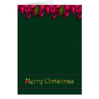 Fuschia Garland Christmas Card