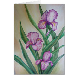 fuschia iris card