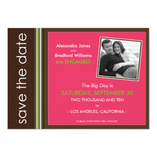Fuschia Modern Speckled Texture Save the Date 5x7 Paper Invitation Card