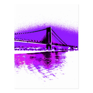 Fuschia Narrows Bridge postcard