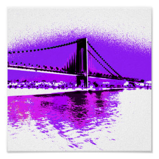 Fuschia Narrows Bridge print