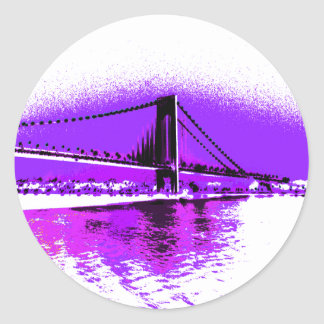 Fuschia Narrows Bridge sticker