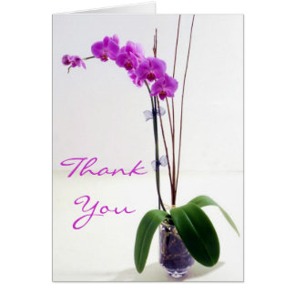 Fuschia Orchid Thank You Cards