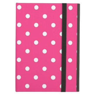 Fuschia Pink  & White Polka Dots, iPad Air Case