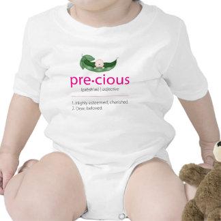 "Fuschia ""Precious"" Pea-in-a-Pod Baby Tee"