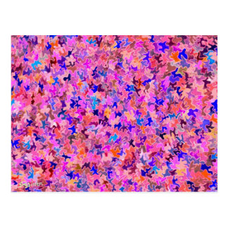 Fuschia Puzzle Pieces Postcard