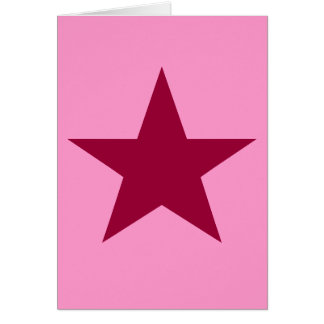 fuschia star card