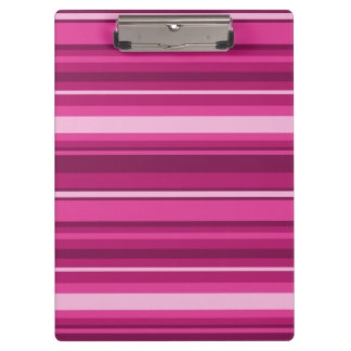 Fuschia stripes clipboard