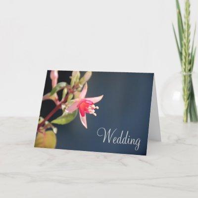 A series of vibrant colourful Fuschia Wedding invitations
