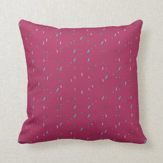 Fuschia with Blue Speckles Pillow