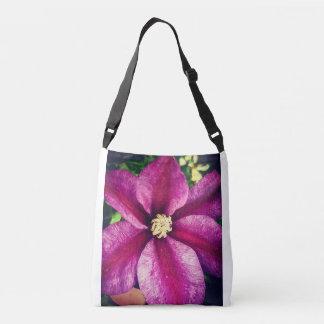Fuscia blossom crossbody bag