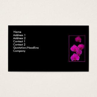 Fuscia Orchids Business Card