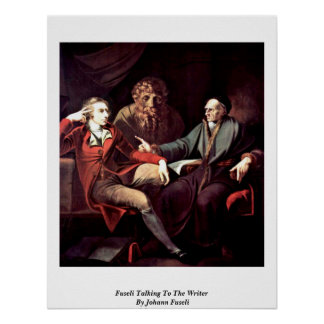 Fuseli Talking To The Writer By Johann Fuseli Print