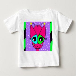 Fushia Alien on a Baby T-Shirt
