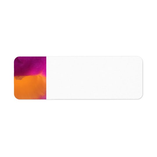 Fushia and Orange Address Label