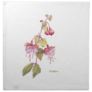 Fushia flower napkin