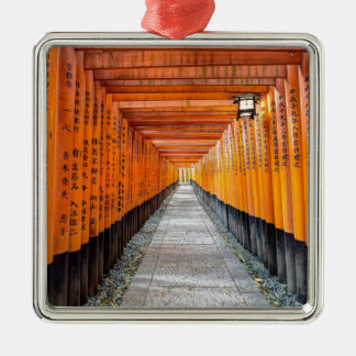 Fushimi Inari Shrine, Kyoto Japan Silver-Colored Square Decoration