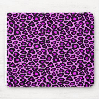fushsia leopard print mouse pad