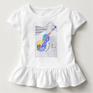 fusion doodle of colors and black and white toddler T-Shirt
