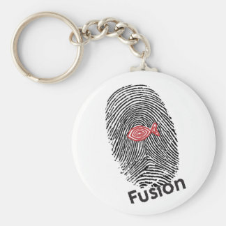 Fusion Logo 3-23-09 For Products.ai Basic Round Button Key Ring