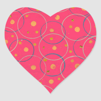Fusion Pink Folly Heart Sticker