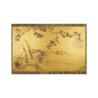 Fusuma: Tigers and Dragoon Canvas Print
