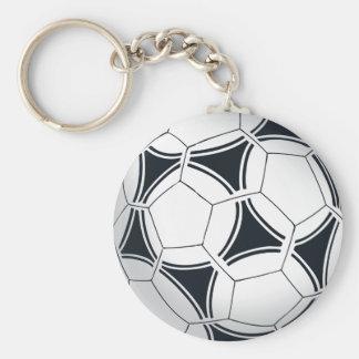 Futbol Soccer Ball Basic Round Button Key Ring