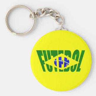 Futebol Brasil Bandeira Brazilian flag Futebol Key Chain