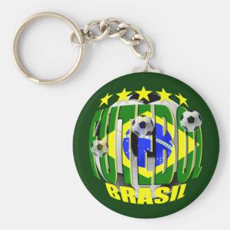 Futebol round brazil soccer ball 5 star gifts basic round button key ring