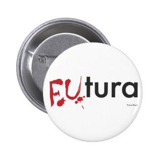 Futura - Blood dripping Font - Happy Halloween Pin