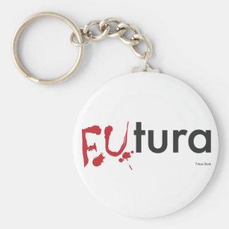 Futura - Blood dripping Font - Happy Halloween Basic Round Button Key Ring