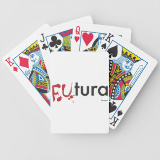 Futura - Blood dripping Font - Happy Halloween Poker Deck