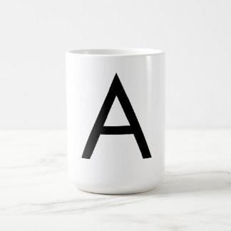 Futura Font Alphabet Basic White Mug