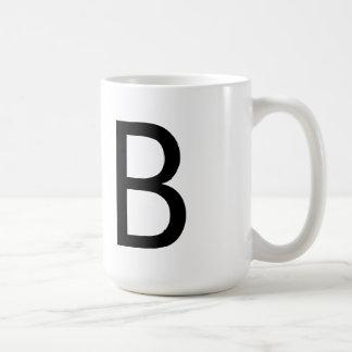 """Futura Font """"B"""" Mug"""