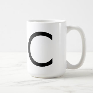 "Futura Font ""C"" Mug"